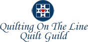 Quilting On The Line Quilt Guild Logo