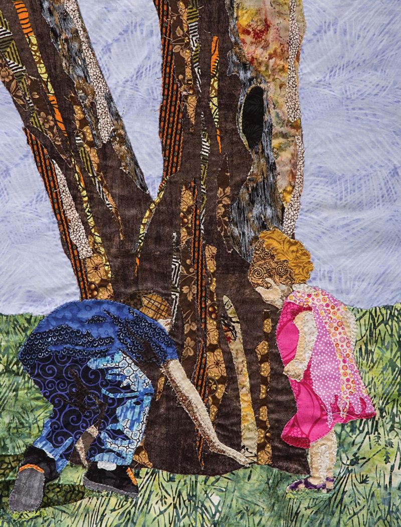 Explorers Art Quilt by Leni Levenson Wiener